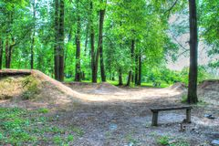 Photo rentrée un des plus grands parcs à Moscou Photographie stock libre de droits
