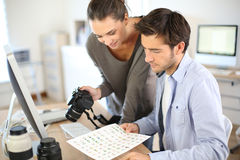 Photo reporters worikng on project Stock Photography