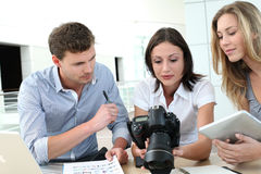Photo reporters at work Royalty Free Stock Images
