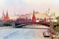 Photo retro Moscow Kremlin Stock Images