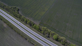 Photo of the road from the drone Stock Photo