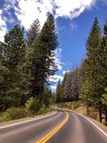 The Road Through Yosemite National Park stock photography