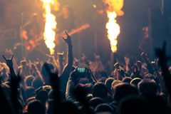 Photo of rock concert Stock Photos