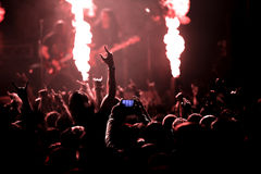 Photo of rock concert Royalty Free Stock Photos