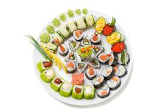 Photo of a rolled and sushi Royalty Free Stock Image
