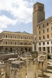 Roman amphitheater of Lecce, Italy Stock Photography