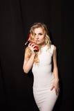 Photo romantique d'une femme sexy Images stock