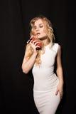 Photo romantique d'une femme sexy Photographie stock libre de droits
