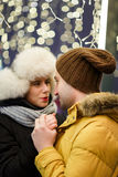 Photo romantique des couples affectueux Image libre de droits