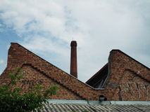 Photo of rooftop and chimney Stock Photography