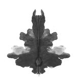 Photo Rorschach inkblot test isolated on white Stock Images