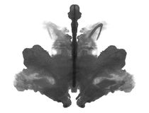 Photo Rorschach inkblot test isolated on white. Background Stock Image
