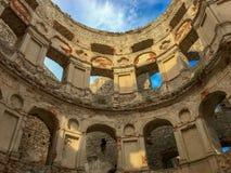 Ruins of an old castle Krzyztopor, Ujazd, Poland royalty free stock image