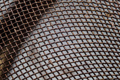 Photo of the rusty iron mesh Royalty Free Stock Photography