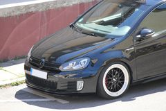 Photo`s of a Volkswagen Golf 5 and Volkswagen Golf 6 GTI Stock Photo