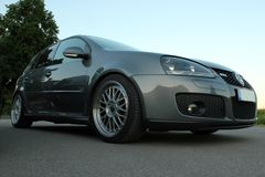 Photo`s of a Volkswagen Golf 5 and Volkswagen Golf 6 GTI Stock Image