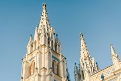 Saint Mary`s Catholic Cathedral church exterior architecture in Madurai. Photo of Saint Mary`s Catholic Cathedral church exterior architecture in Madurai Royalty Free Stock Image