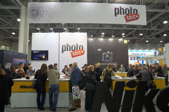 Photo Sale booth in Crocus Expo Royalty Free Stock Image