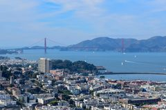 San Francisco Skyline - Golden Gate Bridge stock image