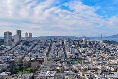 San Francisco Skyline - San Francisco Hills stock photos
