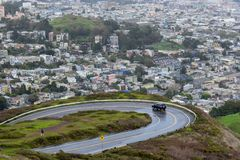 San Francisco Aerial View from Twin Peaks stock photography