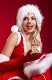 Photo of santa Christmas girl Stock Images