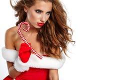 Photo of santa Christmas girl Royalty Free Stock Images