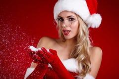 Photo of santa Christmas girl Stock Image