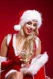 Photo of santa Christmas girl Stock Photo