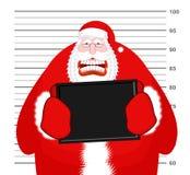 Photo Santa Claus au Département de Police Noël de photo de détenu L'AR illustration libre de droits