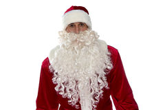Photo of Santa Claus in red costume Stock Photography
