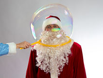 Photo of Santa inside the bubble Stock Photos