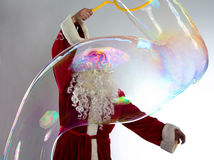 Photo of Santa with long bubble Royalty Free Stock Photos