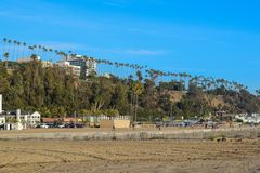 Santa Monica North Beach in Los Angeles royalty free stock image