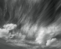 Photo scenic sky in black and white, abstract nature background Royalty Free Stock Images