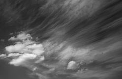 Photo scenic sky in black and white, abstract nature background Royalty Free Stock Photo