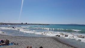 Sea in Marseille stock photo