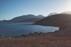 Photo of Sea and Mountain Royalty Free Stock Photography