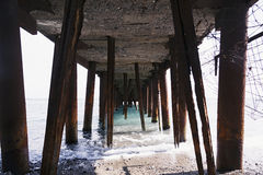 Photo by sea shore facility Royalty Free Stock Images