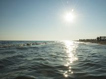 Photo of the Sea with Sunlighting royalty free stock photos