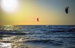 Photo Sea surfer far Royalty Free Stock Photography