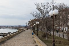 A photo of the sea valley in Pomorie,Bulgaria. stock photo