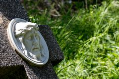Old abanoned grave close up royalty free stock photography