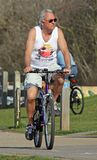 Senior cyclist outdoor fitness exercise