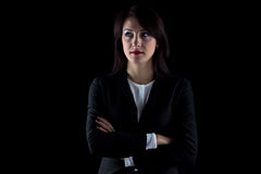 Photo of serious looking away business woman Royalty Free Stock Photography