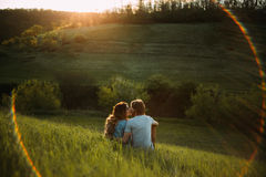 Two young lovers Royalty Free Stock Images