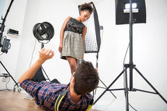 Photo session of the great model Stock Photos