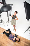 Photo session of the great model Stock Photography