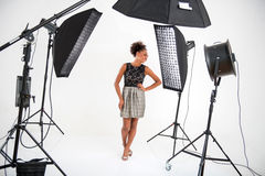 Photo session of the great model Royalty Free Stock Image