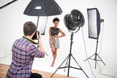 Photo session of the great model Royalty Free Stock Photos